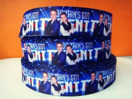 1 METRE OF ANT + DEC BRITAINS GOT TALENT RIBBON SIZE 7/8s HEADBANDS BOWS HAIR CLIPS